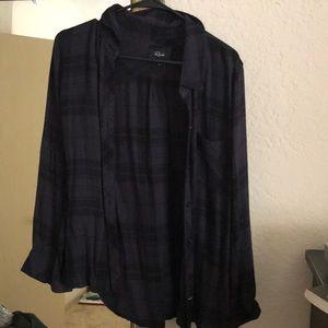 Rails flannel button up